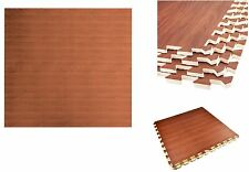 4pc Kids Children's Play Mat Wood Effect Interlocking Eva Mat Puzzle Floor Tiles