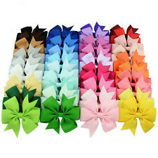 40 Pcs New Satin Ribbon Bow Hair Clips Kids Girls Bow Hair Accessories