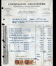 """PARIS (I°) USINE de ST-ETIENNE-en-COGLES ,OUTIL-MATERIEL """"Georges REGNAULT"""" 1928"""