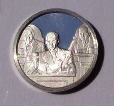 Franklin Mint STERLING SILVER Mini-Ingot: 1947 Truman Doctrine Contains Soviets