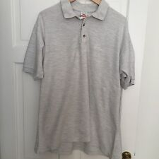 Men's Large FRUIT OF THE LOOM Grey Cotton Polo Shirt