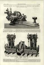 1890 Ss Teutonic And Majestic Centrifugal Pumping Engines Electric Light