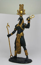 "Ancient Egyptian God of Techonology Thoth Figurine Statue 12"" Height Black Gold"