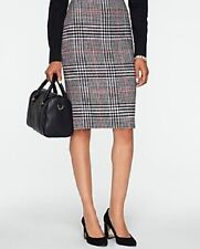 NEW $139 TALBOTS Black Rockingham Plaid Pencil Skirt Sz 16W