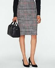 NEW $139 TALBOTS Black Rockingham Plaid Pencil Skirt Sz 18W