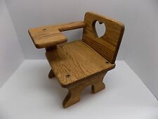 "Vintage Handcrafted Doll-Size Wooden School Desk Furniture for 17"" to 20"" Dolls!"