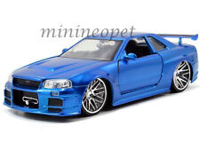 JADA 97173 FAST AND FURIOUS BRIAN'S 2002 NISSAN SKYLINE GT R R34 1/24 BLUE