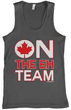 Threadrock Men's On The Eh Team Tank Top Funny Canada Canadian Flag