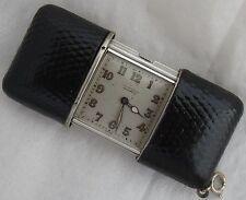 Movado Ermeto Chronometre Pocket watch Silver Case 47,5 mm. x 33 mm. aside