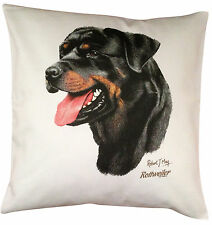 Rottweiler  RM Breed of Dog Themed Cotton Cushion Cover - Perfect Gift