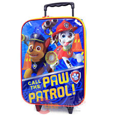 "Paw Patrol Pilot Case Rolling Luggage Suite Case 16"" Travel Rolling Bag"