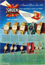 1958 ADVERTISEMENT 4 Pg Watches Gruen Autowind Illustrious Briarcliffe Valiant