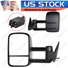 For 88-98 Chevy C/K C10 1500/2500/3500 POWER Tow Camper Side Towing Mirrors PAIR