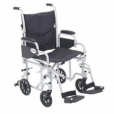 Poly Fly Light Weight Transport Chair Wheelchair TR18 By Drive Medical New