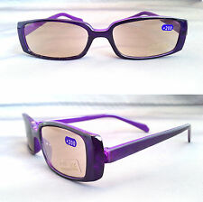 Tinted Reading Glasses Purple Specs S Ready Readers Plastic Frame +2.00 +2.0 +2
