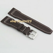 parnis 22mm Wristwatch Bands leather Watchband watch Strap steel buckle,P525