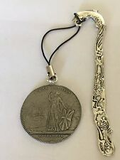 Charles Edward Stuart Coin WC39 Made From Fine Pewter On A DOLPHIN Bookmark