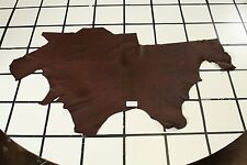"""Brookdale Gorge"" Brown Sturdy Scrap Leather Hide Approx. 13 sqft. G87M16-7"