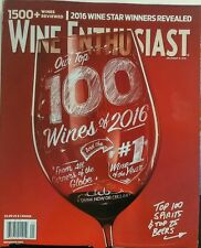 Wine Enthusiast Best of Year Issue 2016 Top 100 Wines Spirits FREE SHIPPING sb