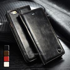 iPhone 6 6s Handy Leder Synthetisch Tasche Etui Case Cover Hülle Zubehör Schwarz