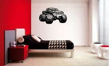MONSTER TRUCK BOYS DECAL WALL ART VINYL DECOR STICKER ROOM SPORTS BEDROOM KIDS