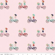 Riley Blake Vintage Market by Tasha Noel C4561 Pink Bike Ride Cotton Fabric