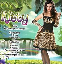 Womens Plus Size 2X 16-20 Fantasy Kitty Cat Kitten Cosplay Dress Sexy Role Play