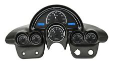 1958-62 Chevy Corvette Black Alloy & Blue Dakota Digital VHX Analog Gauge Kit