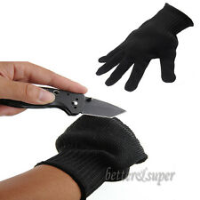 Stout Black Stainless Steel Wire Knife-resistant Gloves Cut Safety Work Gloves