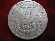 1892-S Morgan Silver Dollar VERY SCARCE DATE Coin, Circulated, Cleaned Ungraded.