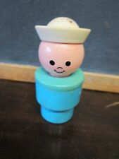 fisher price little people Jumbo boat Blue Sailor only white hat Figure part toy