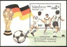 Laos 1990 coupe du monde de football/allemagne winners/sports/jeux/soccer 1v m/s (b8363)