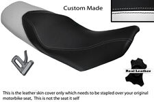 WHITE & BLACK CUSTOM FITS KTM 690 DUKE 07-11 DUAL LEATHER SEAT COVER