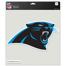 """CAROLINA PANTHERS LOGO 8""""X8"""" COLOR DIE CUT DECAL BRAND NEW WINCRAFT"""
