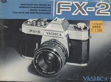 Yashica FX-2 Original Instruction Manual User Guide