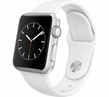 Apple Watch 38mm MJ302B/A Stainless Steel Case White Sport Band  1 Year Warranty
