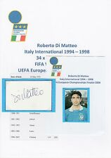ROBERTO DI MATTEO ITALY INTERNATIONAL 1994-1998 ORIGINAL HAND SIGNED CUTTING