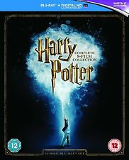 Harry Potter The Complete 8 Film 16 Disc Blu-Ray Collection Box Set NEW FreeShip