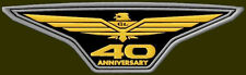 "XL HONDA GOLDWING 40 ANNIVERSARY EMBROIDERED BACK PATCH ~11-3/4"" x 3-1/2"" PARCHE"