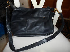 Jenny Buchanan black leather handbag