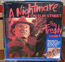 A NIGHTMARE ON ELM STREET THE FREDDY GAME BOARDGAME COMPLETE IN BOX RARE 1989