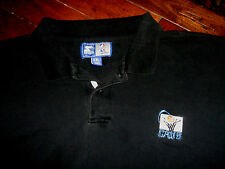 Cleveland Cavaliers CAVS Vintage 1990s Old Logo Black Starter Polo Shirt XXL 2XL