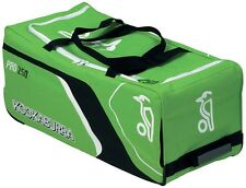 Kookaburra Pro 250 Club Level Cricket Kit Wheelie Bag Holdall Green or Blue