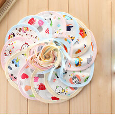 10x Newborn Baby Boy Girls kids Bibs Waterproof Saliva Towel Feeding Bandana Hot