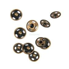 50x Metal Snap Fastener Press Stud Jeans Clothes Sew On Buttons Bronze 8mm