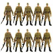 FreeShip Lot 10 Pcs Russian Soldiers Troopers Indiana Jones Figures W/ACCESS L05