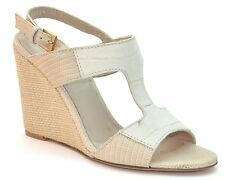 Hugo Boss Women's Beige Leather Heel Sandals SIZE MISMATCH US 8 10