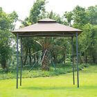 1Outdoor 8FT Double-tier BBQ Grill Canopy Barbecue Shelter Tent Patio Deck Cover