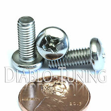 "#10-32 x 1/2"" Stainless Steel - Qty 10 - Network Server Rack Rail Mount Screws"
