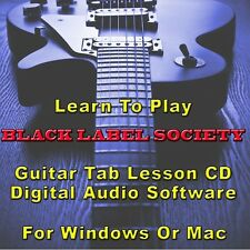 BLACK LABEL SOCIETY Guitar Tab Lesson CD Software - 86 Songs